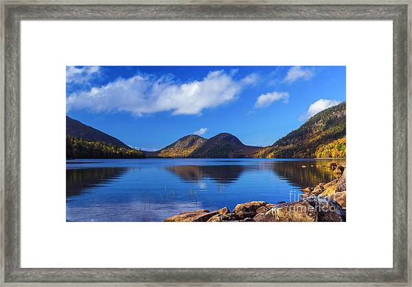 The Bubbles And Jordan Pond. Framed Print