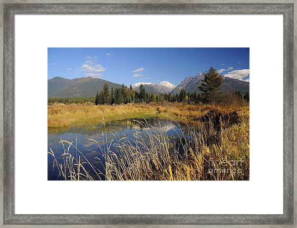 1123a The Cabinet Mountains  Framed Print
