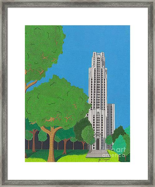 The Cathedral Of Learning Framed Print