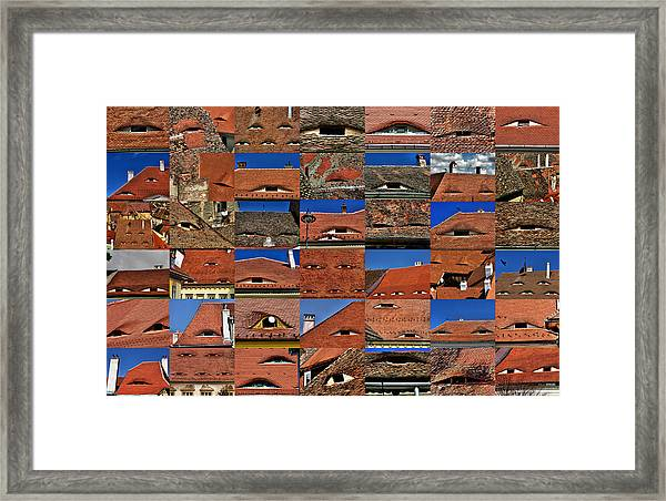 The City's Eyes Sibiu Hermannstadt Romania Framed Print