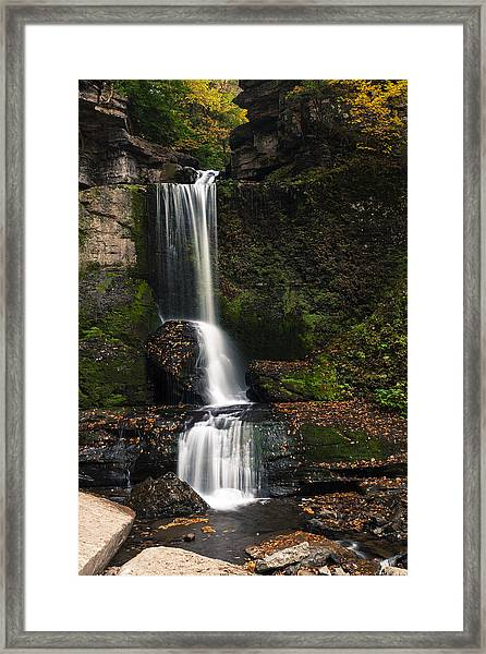 The Cowshed Falls Framed Print