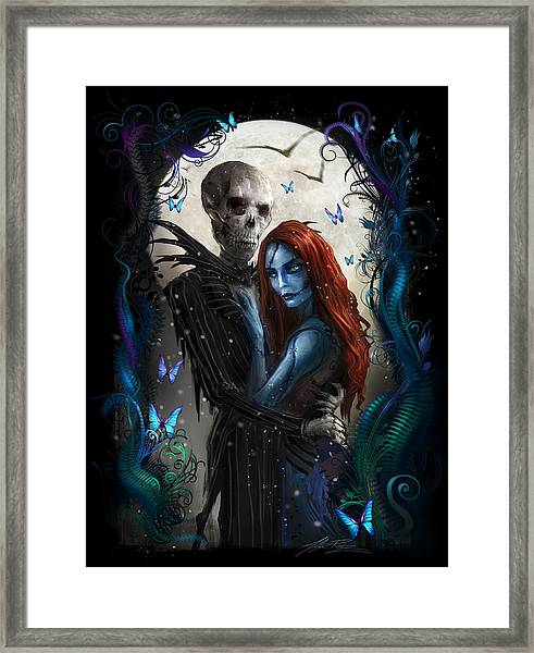 'the Embrace' V2 Framed Print
