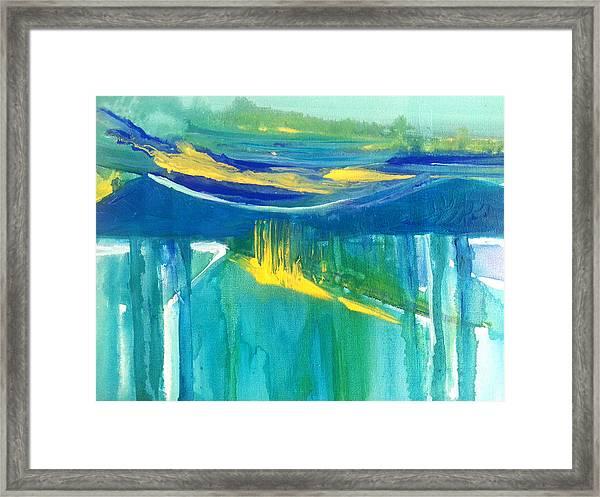 The Emerald Sea Framed Print