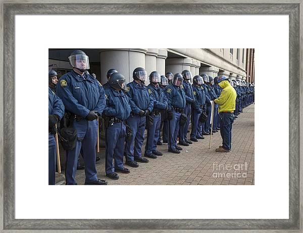 The Enforcers Framed Print