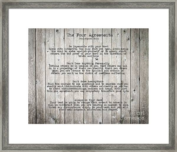The Four Agreements Framed Print