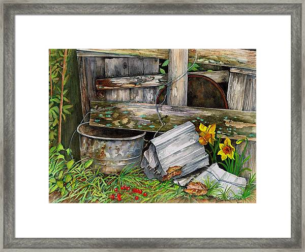 The Fugitive Framed Print by Val Stokes