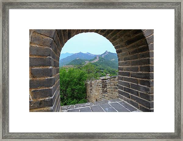 The Great Wall, Qianjiadian Scenic Framed Print