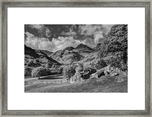 The Langdale Pikes From Copt Howe Framed Print by Graham Moore