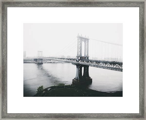 The Manhattan Bridge Framed Print