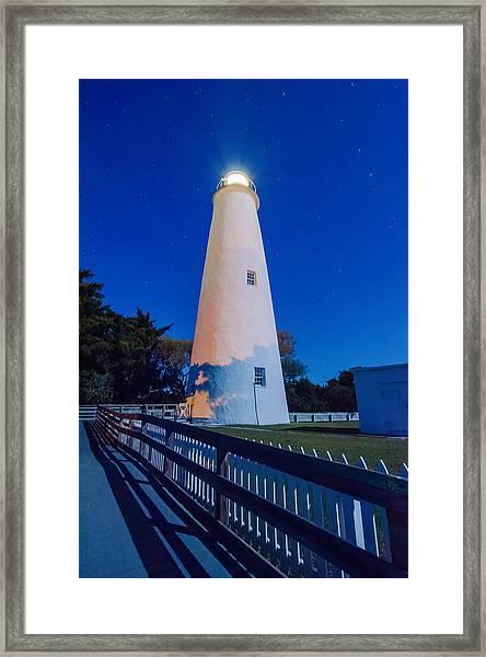 The Ocracoke Lighthouse On Ocracoke Island On The North Carolina Framed Print
