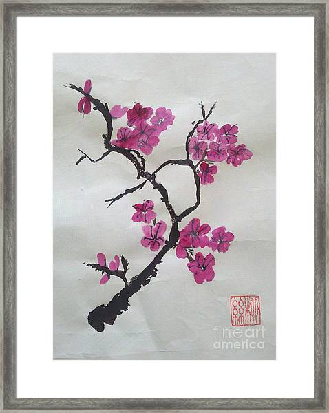 The Plum Blossom Framed Print