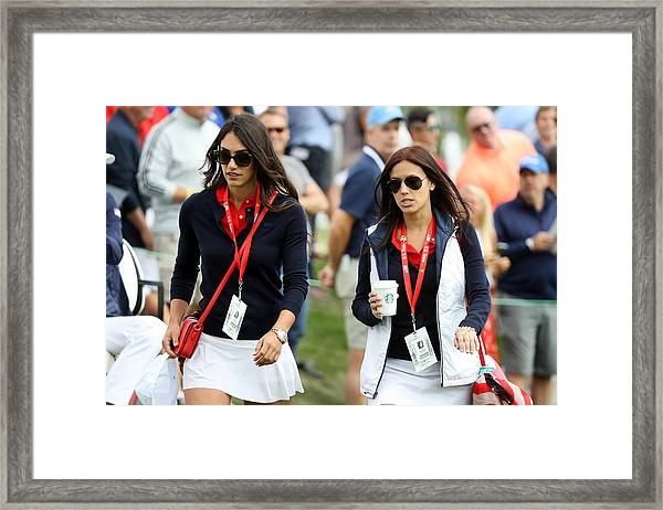 The Presidents Cup - Round Two Framed Print by Sam Greenwood