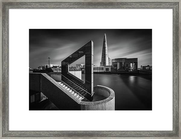 The Shard In Geometry Framed Print
