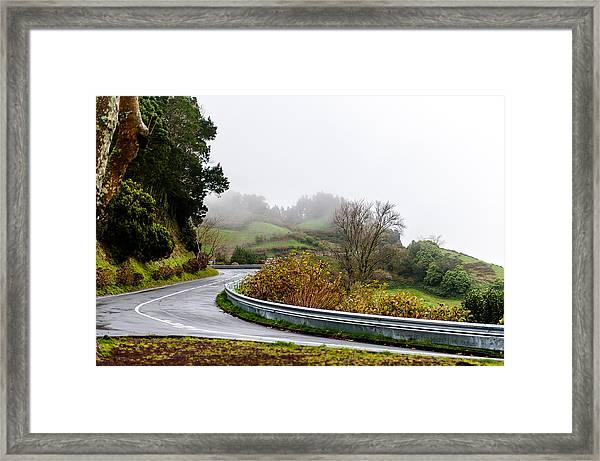 The Winding Road Framed Print