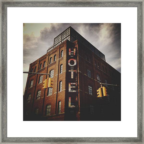 The Wythe Hotel Framed Print