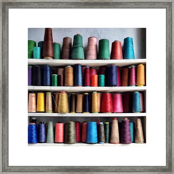 Threads Framed Print