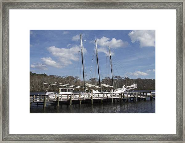 Three Mast Sailboat Framed Print