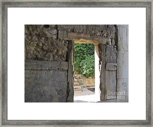 Through - Athens Framed Print