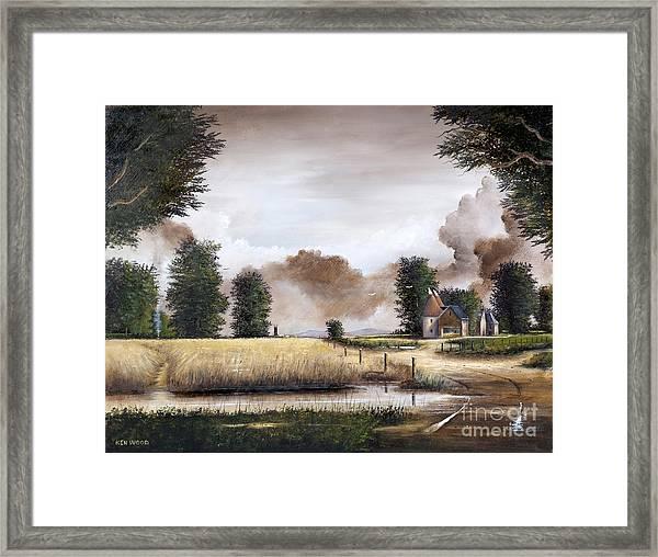 Through The Cornfield Framed Print