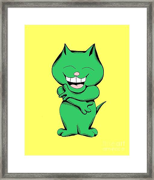 Tickle Cat Laughing Framed Print