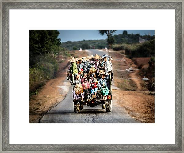 Together Till The End Of The Day Framed Print by Marco Tagliarino