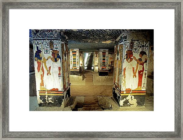 Tomb Of Queen Nefertari Framed Print by Patrick Landmann/science Photo Library