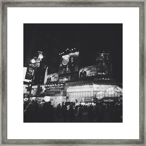 Tonight Late Framed Print
