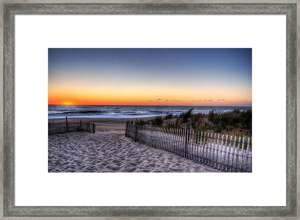 Tower Beach Sunrise Framed Print