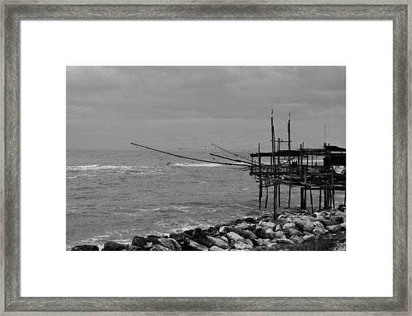 Trabocco On The Coast Of Italy  Framed Print