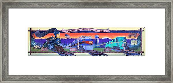 Trains Of Pine Mountain Framed Print