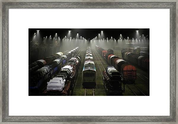 Trainsets Framed Print