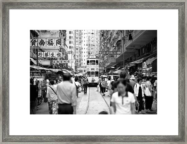 Tram  Framed Print by Kam Chuen Dung