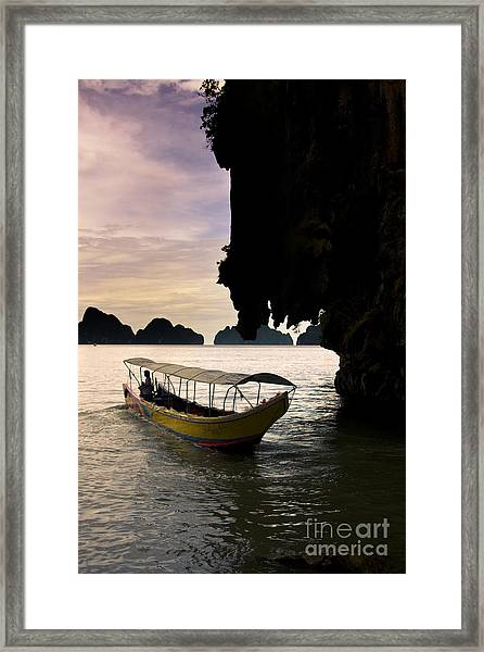 Tropical Holiday In Asia Framed Print