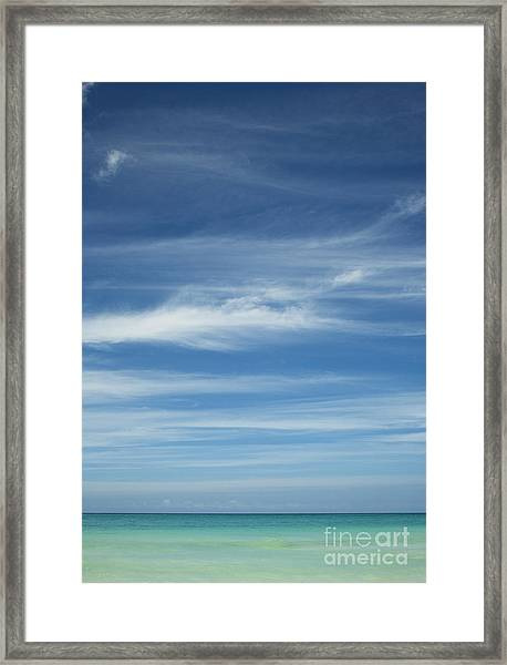 Tropical Ocean And Sky Framed Print