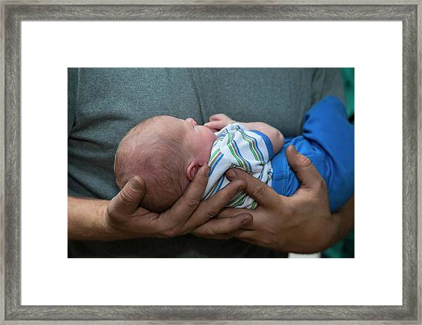 Two-week-old Baby Boy Framed Print