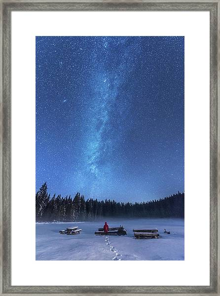 Under The Starry Night Framed Print by Ales Krivec