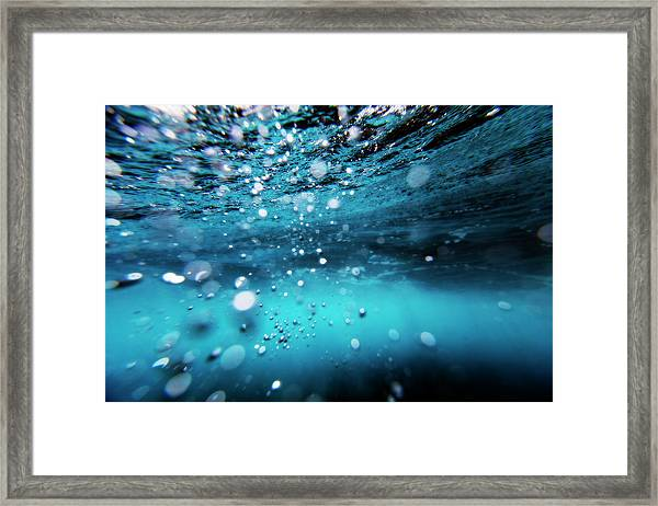 Underwater Bubbles Framed Print by Subman