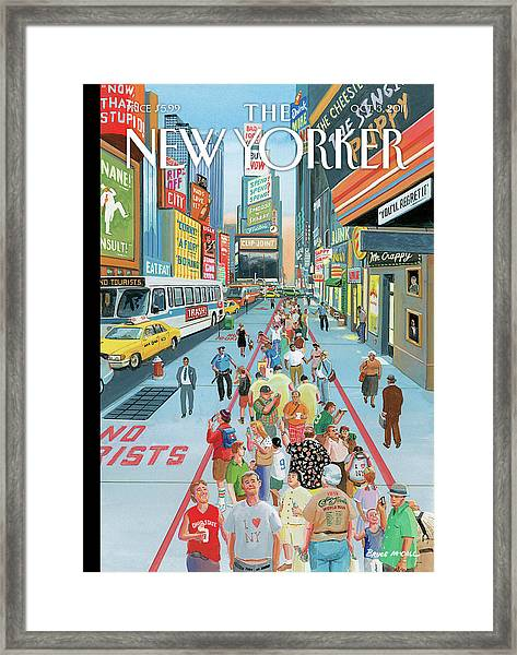 New Yorker October 3rd, 2011 Framed Print by Bruce McCall