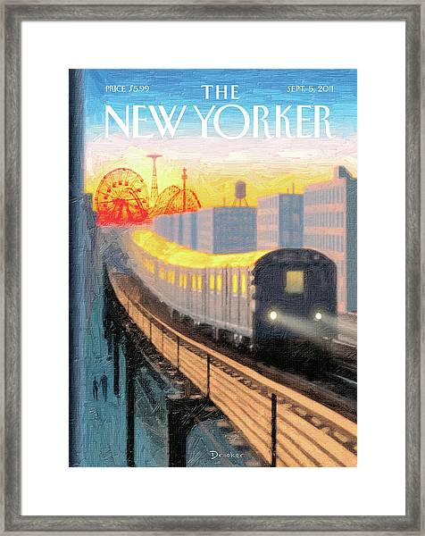 New Yorker September 5th, 2011 Framed Print
