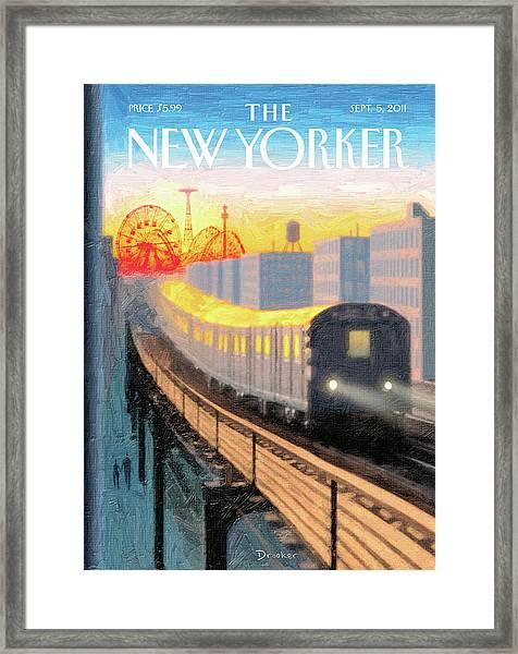 New Yorker September 5th, 2011 Framed Print by Eric Drooker