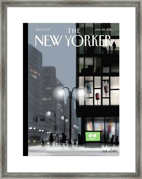 Fifth Avenue And Forty-second Street Framed Print