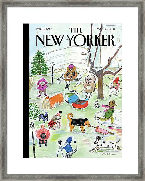 New Yorker March 18th, 2013 Framed Print
