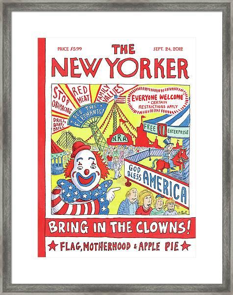 New Yorker September 24th, 2012 Framed Print