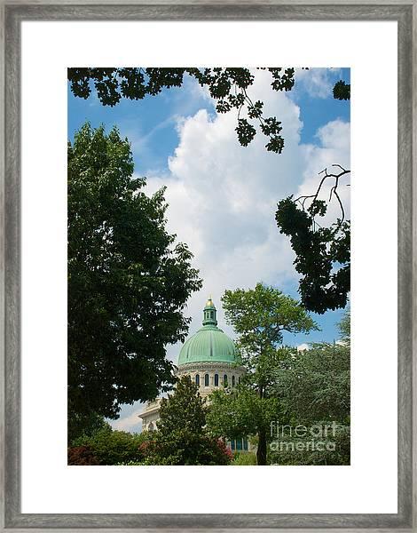 Us Naval Academy Chapel Dome Framed Print