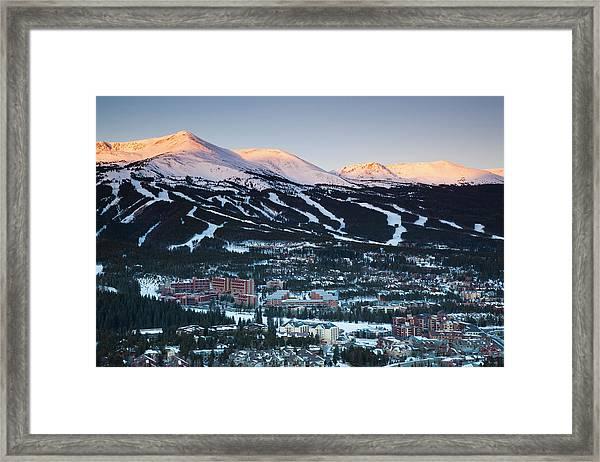 Usa, Colorado, Breckenridge, Elevated Framed Print by Walter Bibikow