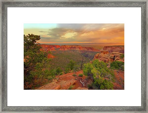 Usa, Colorado, Fruita Framed Print