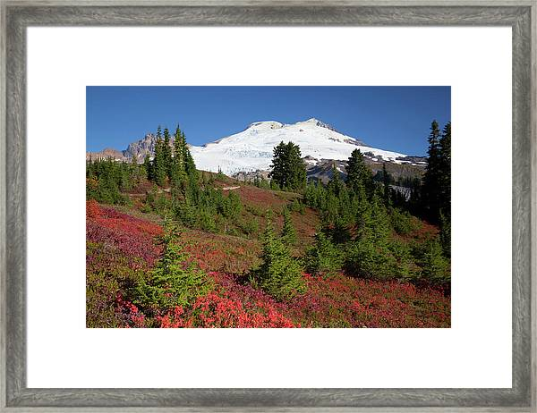 Usa, Washington State, Mount Baker Framed Print by Jamie and Judy Wild