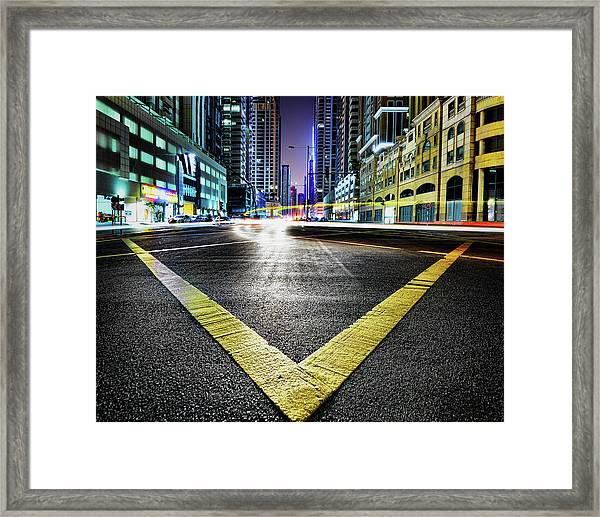V Framed Print by Robert Work