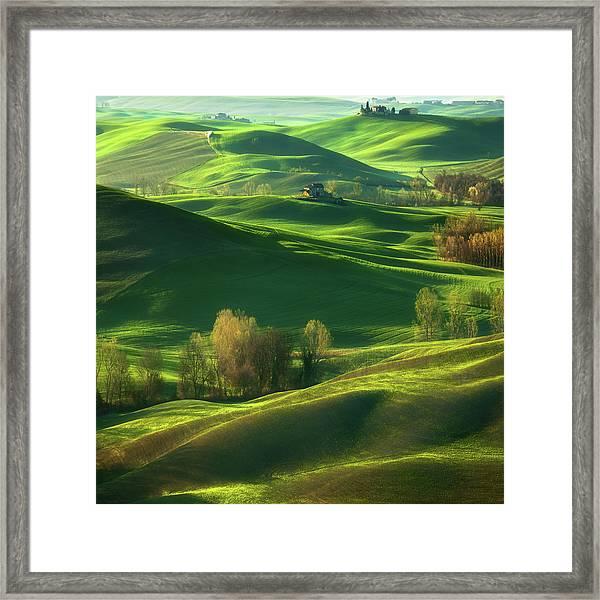 Valley... Framed Print by Krzysztof Browko
