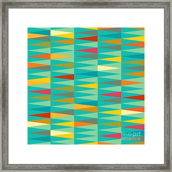 Vector Abstract Geometric Triangle Framed Print
